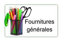 Fournitures générales