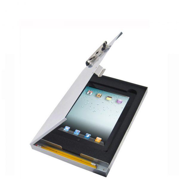 Planchette à pince avec rangement pour iPad